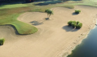 Post-hurricane bunker renovation at Hawk's Landing Golf Club