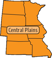 Central Plains Region map