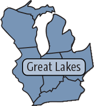 Great Lakes Region map