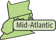 Mid-Atlantic Region map