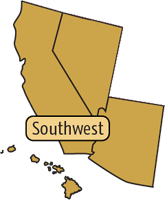 Southwest Region map