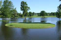Flooding at Raccoon Valley Golf Course